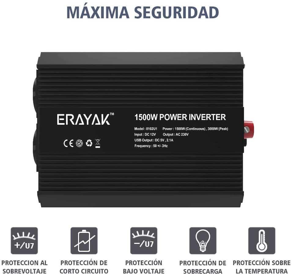 Inversor de onda modificada Erayak 1500w